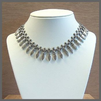 Traditional Indian Sterling Silver Necklace
